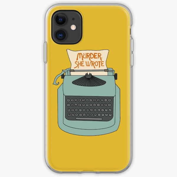 Jessica Fletcher typewriter iPhone Soft Case