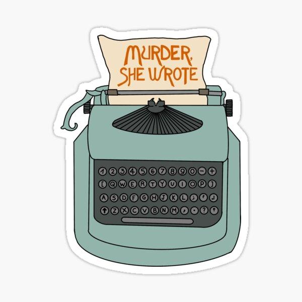 Jessica Fletcher typewriter Sticker