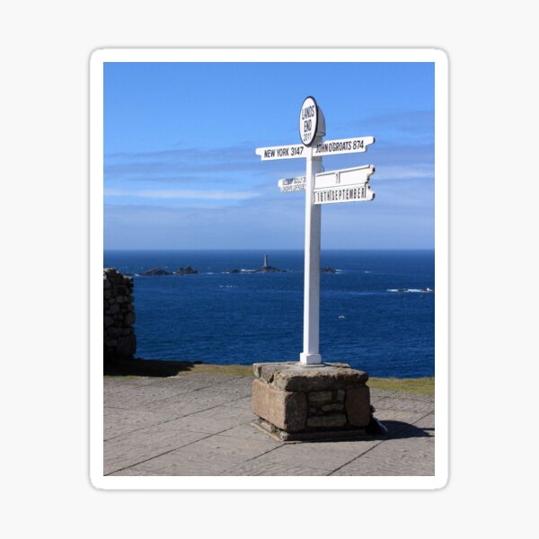 Iconic Land's End England Sticker