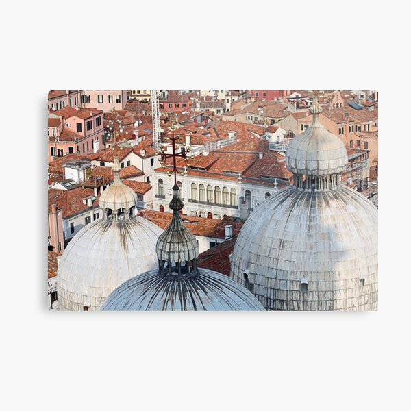 The Rooftops of Venice Metal Print
