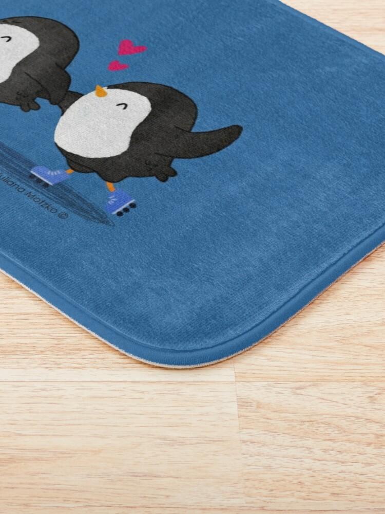 Alternate view of Penguins Having Fun Together Bath Mat
