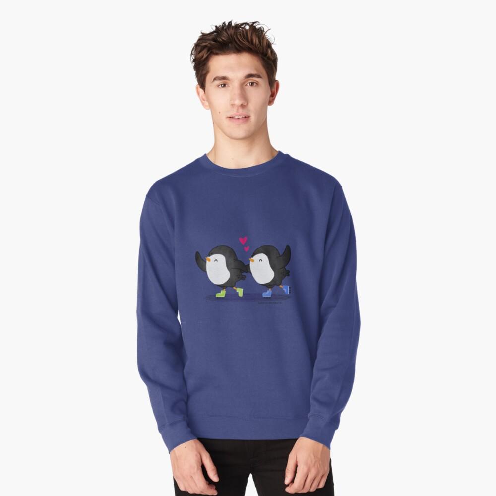 Penguins Having Fun Together Pullover Sweatshirt