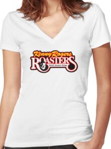 Kenny Rogers Roasters Women's Fitted V-Neck T-Shirt