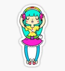 Music Girl Sticker