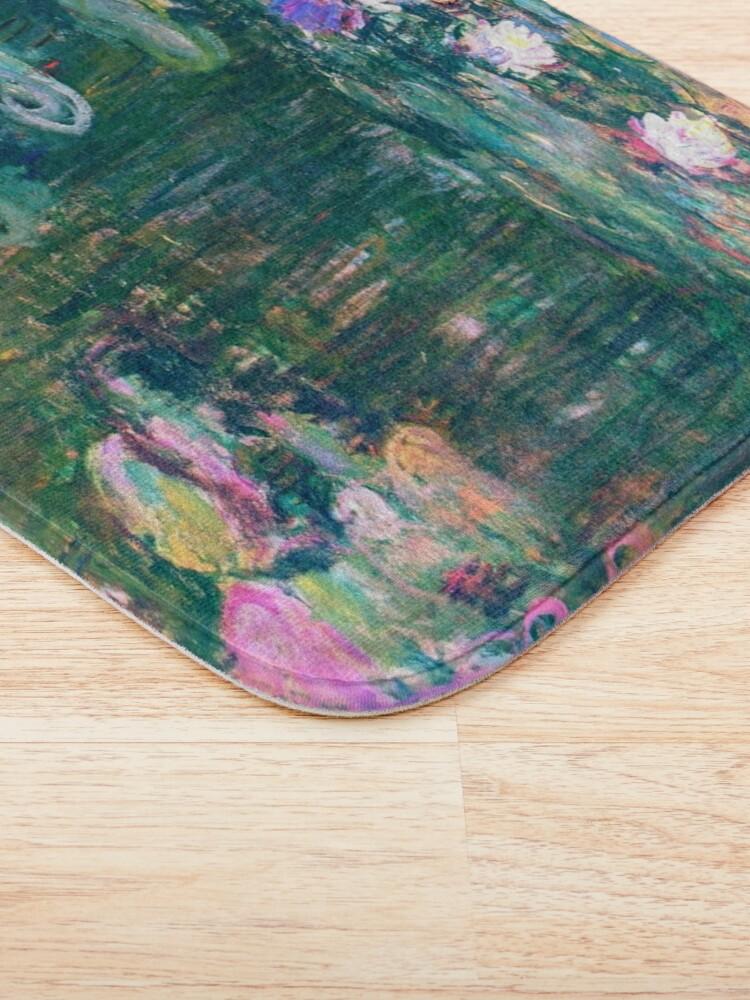 Alternate view of Water Lilies monet  Bath Mat