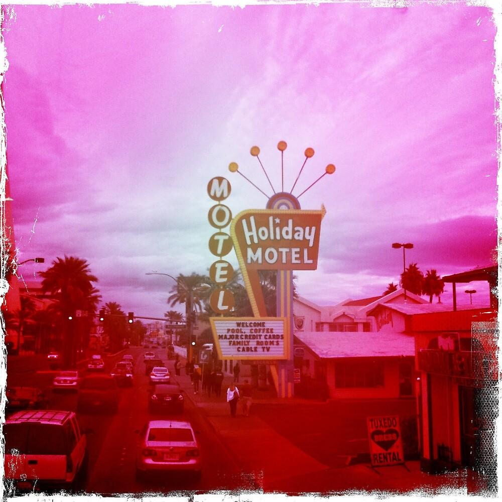 Retro Las Vegas Motel, Nevada by Sarah Louise English