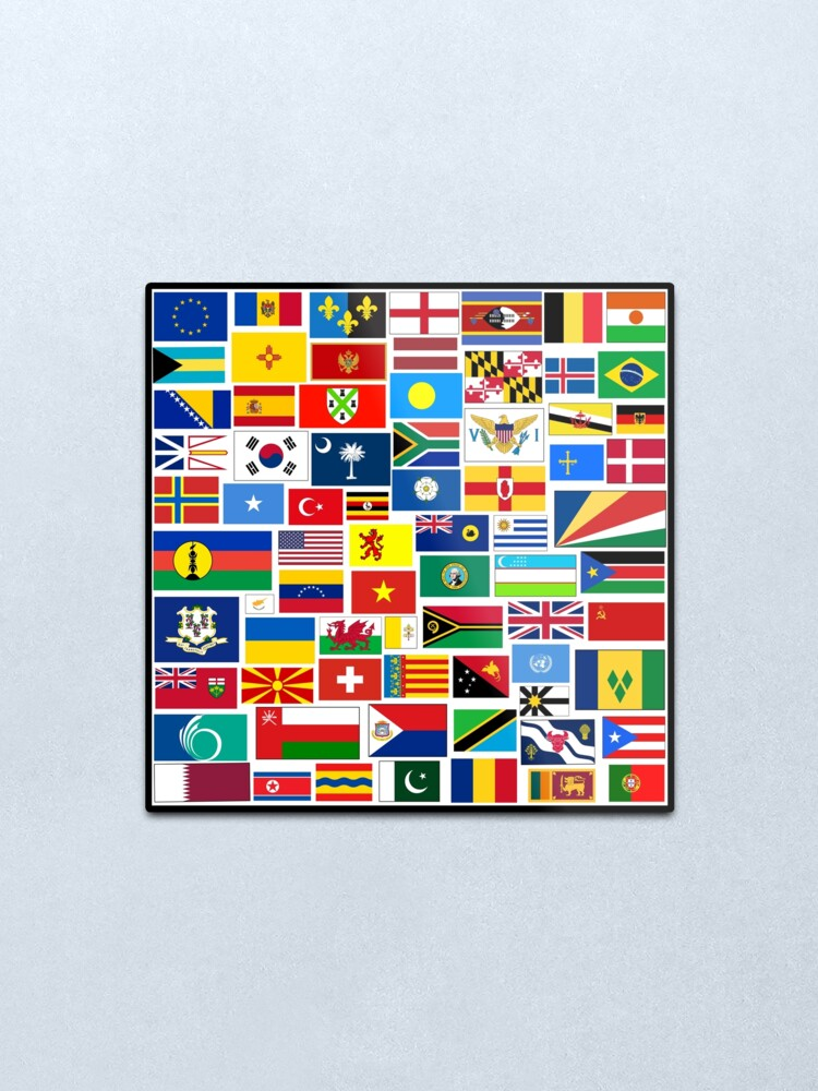 Alternate view of Flags of The World Gifts and Products Metal Print