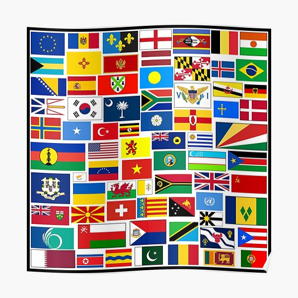 Flags of The World Gifts and Products Poster