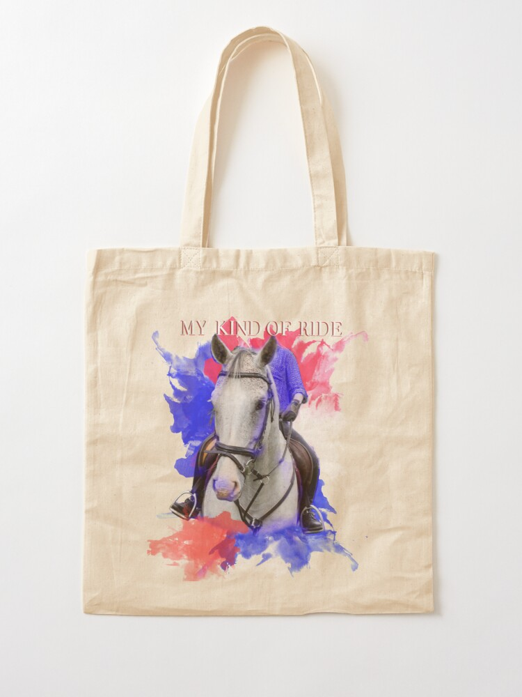 I GO HORSE RIDING Tote bag Reusable Carrier a bag for life