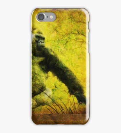 Gorilla Triptych (Views: 1807) iPhone Case/Skin
