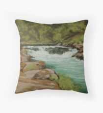 Afternoon at the Narrows Throw Pillow