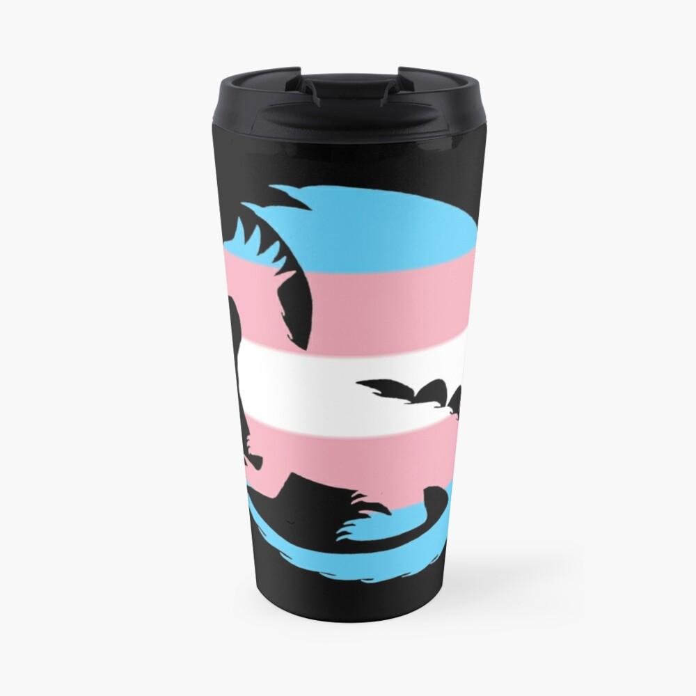 Trans Pride Dragon Silhouette Travel Mug