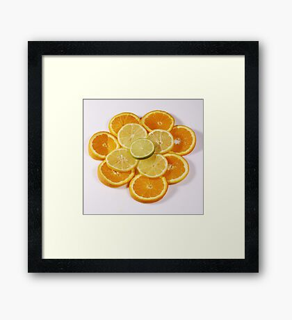 Oranges and Lemons (with a touch of lime!) Framed Print