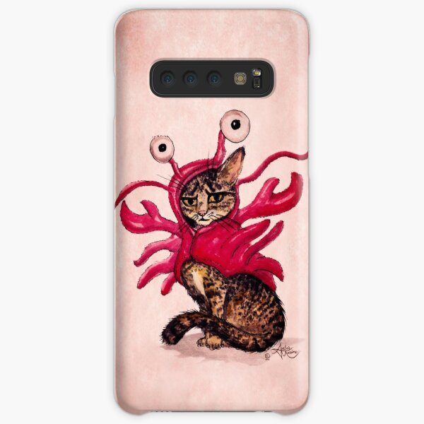"""""""The Lobster"""" Tabby Cat by Amber Marine, Watercolor & Ink (Copyright 2015) Samsung Galaxy Snap Case"""