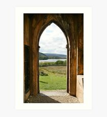 Old Church Dunlewey Donegal Ireland - view from door Art Print