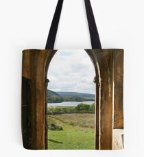 Old Church Dunlewey Donegal Ireland - view from door Tote Bag