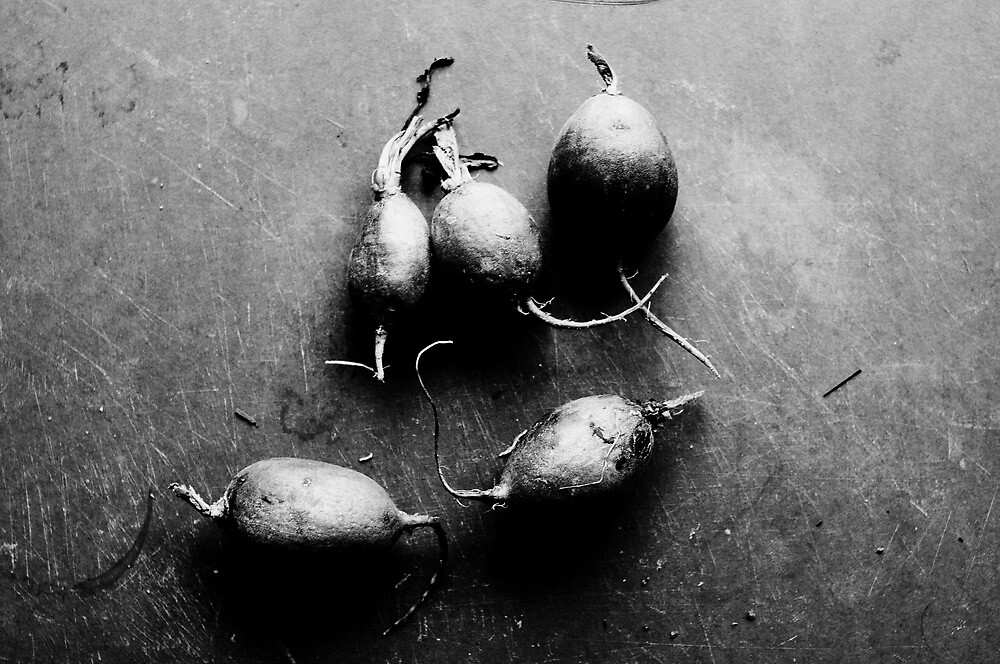 Radishes by Morning Light. by Michael Mavor