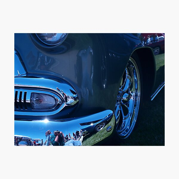 Chrome and Green Photographic Print