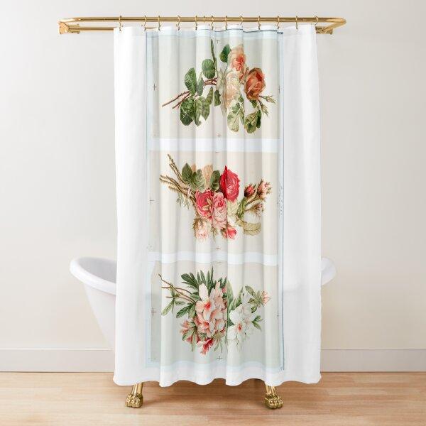 Victorian Flowers Shower Curtain