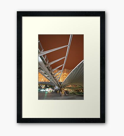 GARE DO ORIENTE. Lisbon Framed Print