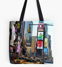 Cabs in Times Square Tote Bag