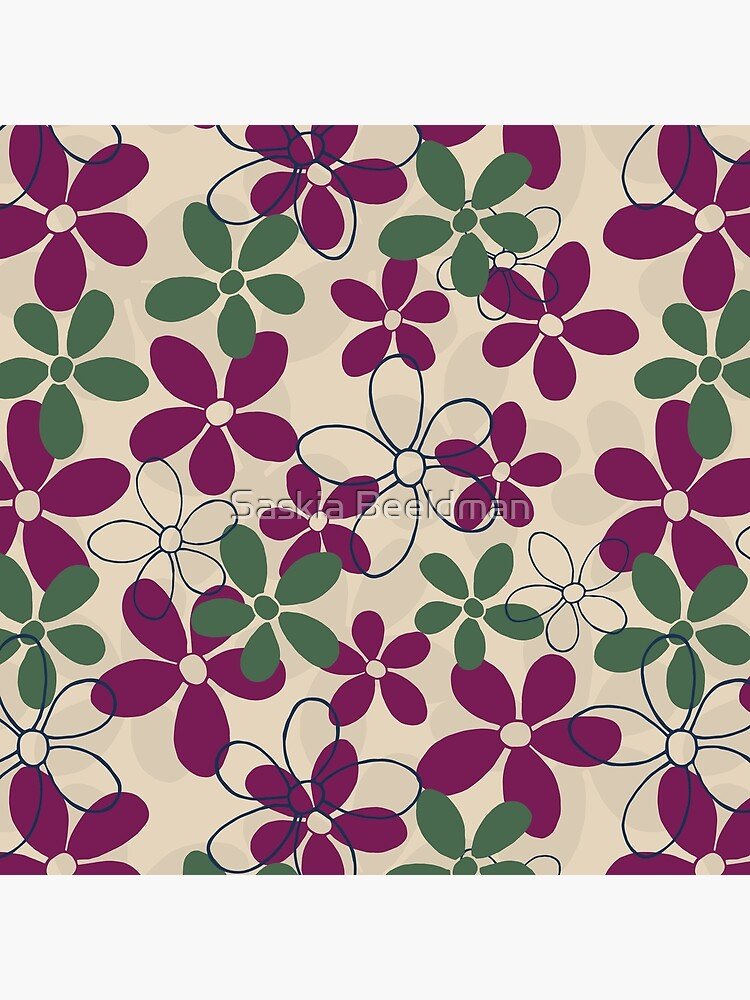 Floret Collection Floral Seamless Surface Pattern by SaskiaDesign