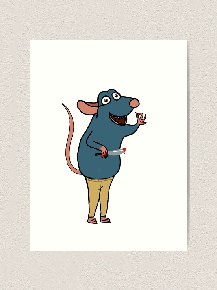 Remy From Ratatouille Art Print By Waddles04 Redbubble