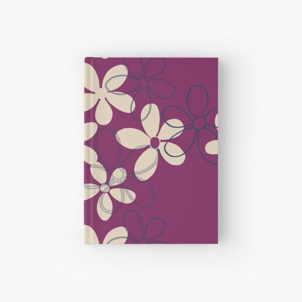 Floret Collection Floral Seamless Surface Pattern Hardcover Journal
