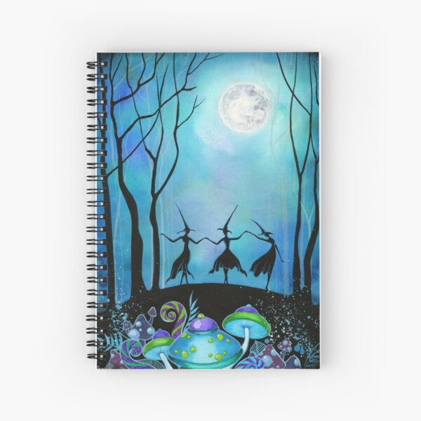 Witches Dancing Under the Moon Spiral Notebook