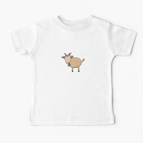 Brown Billy Goat Illustration On White Baby T-Shirt