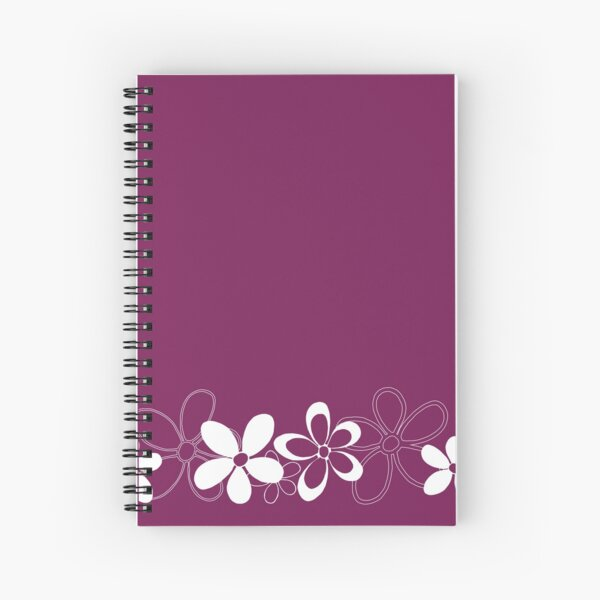 Floret Collection Floral Seamless Border Surface Pattern Spiral Notebook