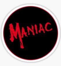 Maniac -  Logo Design #2 - Horror Movie Halloween  Sticker