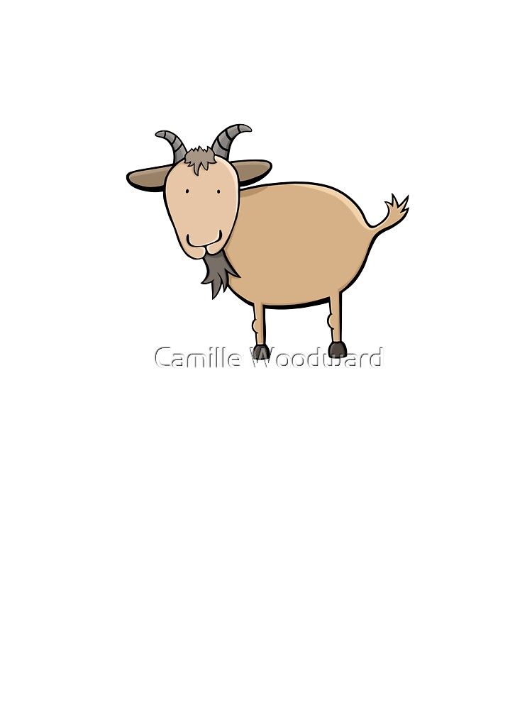 Brown Billy Goat Illustration On Light Gray Kids T Shirt By Cwfreelance Redbubble