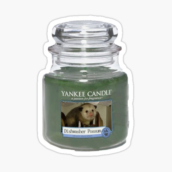 Dishwasher Possum Yankee Candle  Sticker