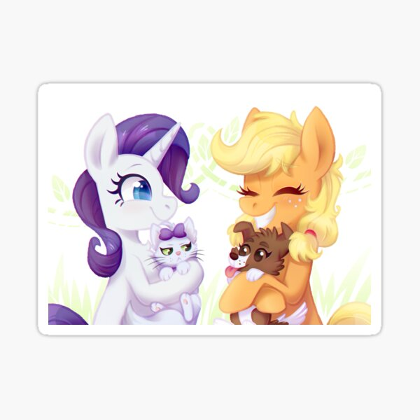 Filly Rarity and Applejack Sticker