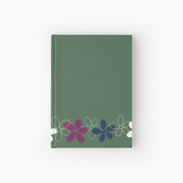 Floret Collection Floral Seamless Border Surface Pattern Hardcover Journal