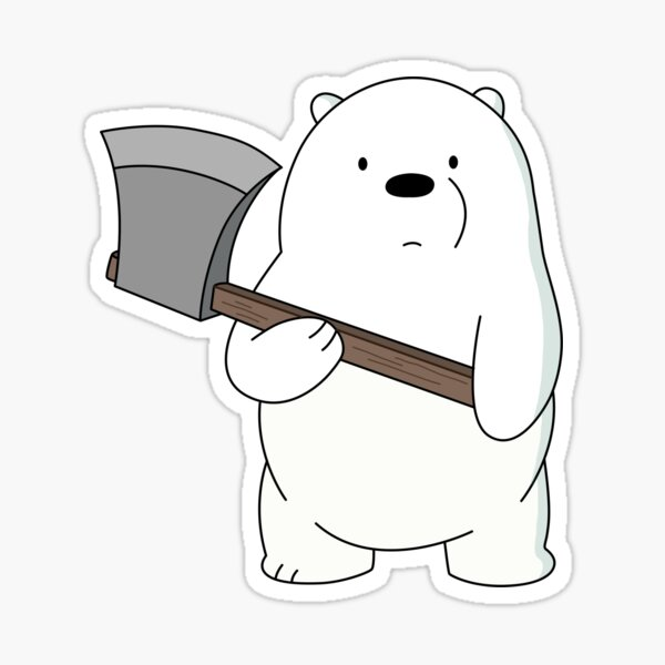 We Bare Bears ™ Ice Bear Pegatina