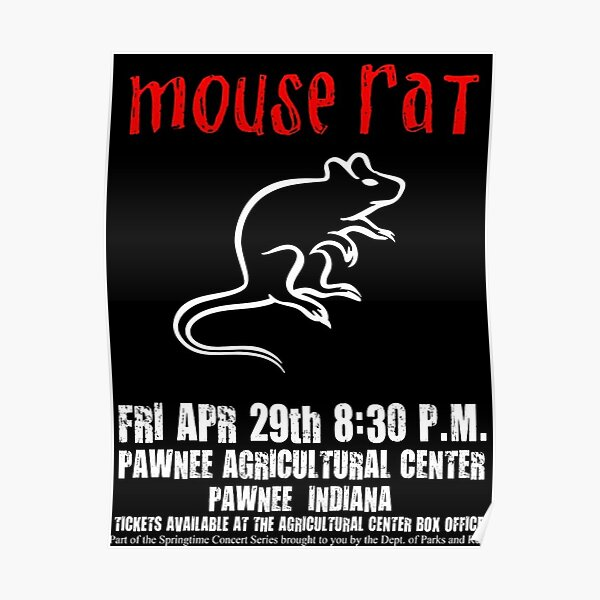 mouse rat parks and rec Poster