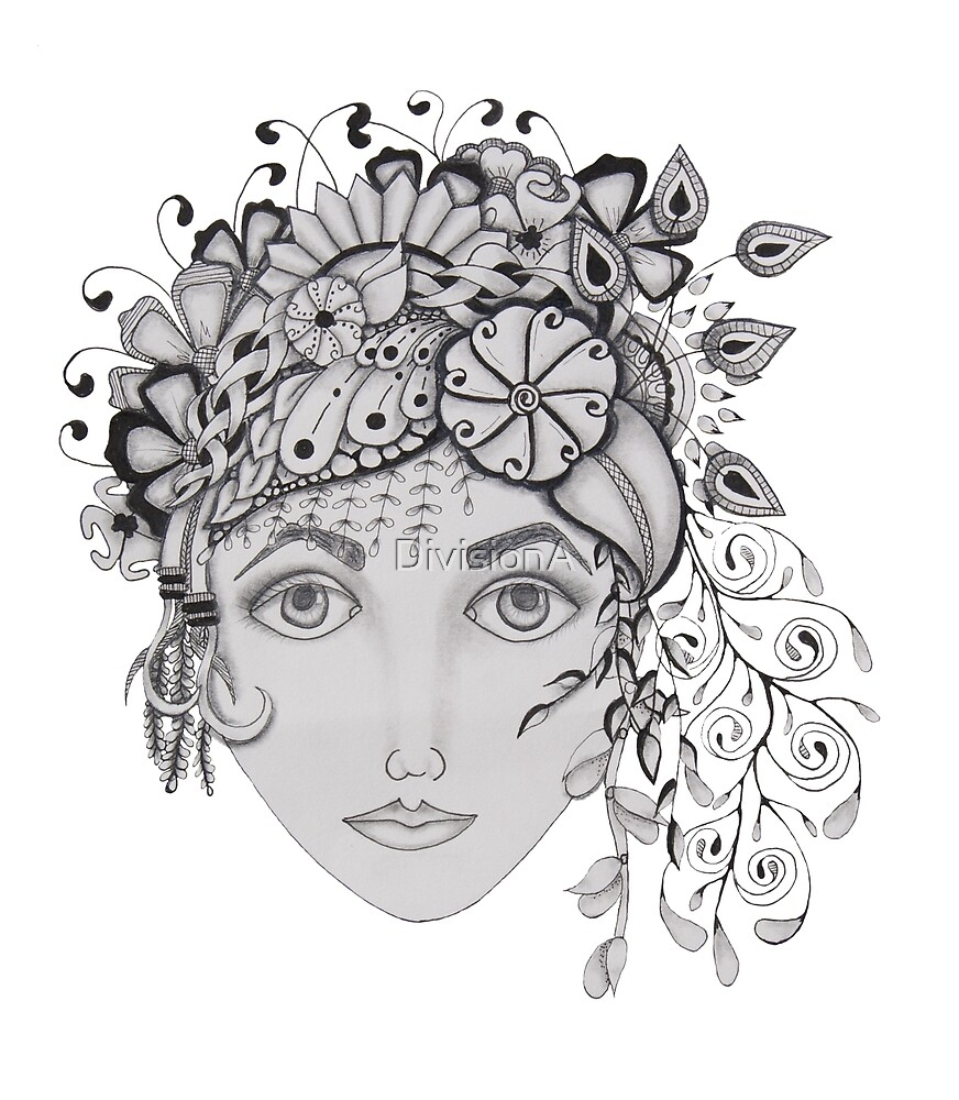 woman with a flower crown by DivisionA
