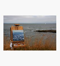 en plein air in gray Photographic Print