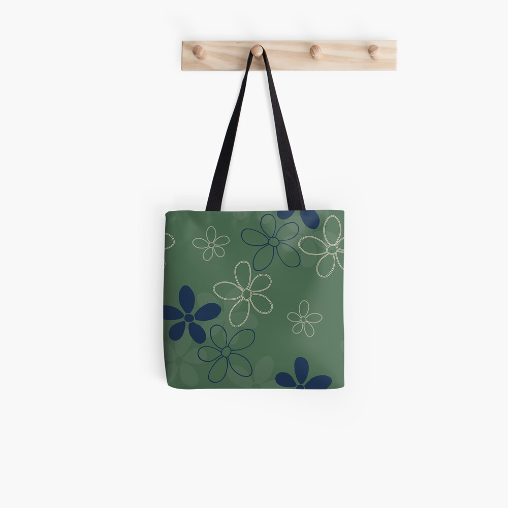 Floret Collection Floral Seamless Surface Pattern Tote Bag