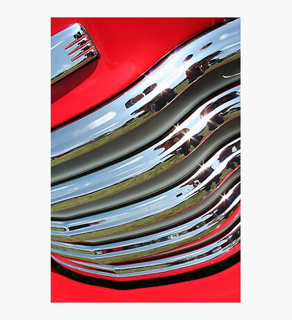 Red Grill Photographic Print