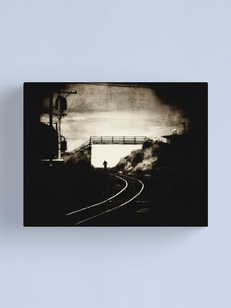 Alternate view of Walk The Line Again Canvas Print