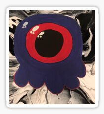 Cute Amoeba Fluid Art Sticker