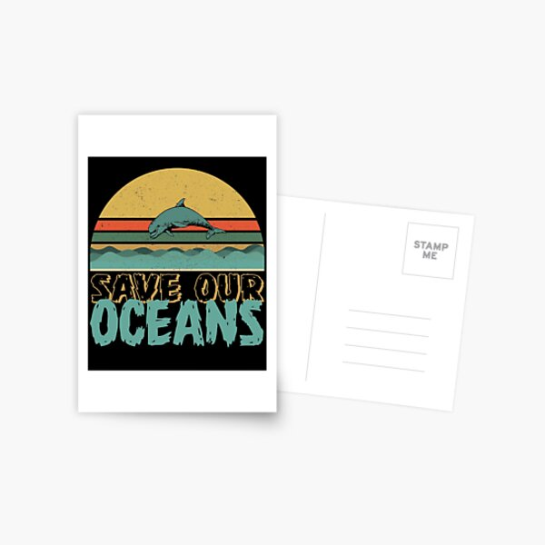 Save Our Oceans Jumping Dolphin Climate Change Awareness  Postcard