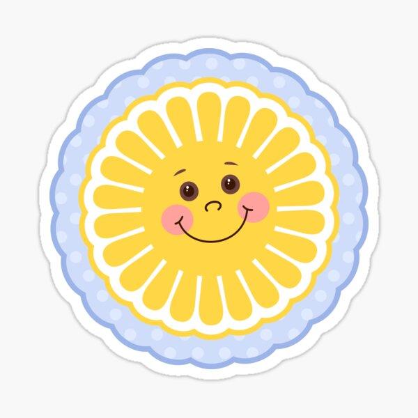 Cute Little Baby Sun Illustration Sticker