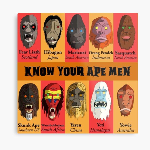 Know Your Ape Men Metal Print