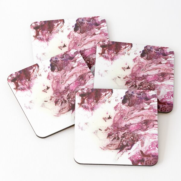 Cherry Dragon Coasters (Set of 4)