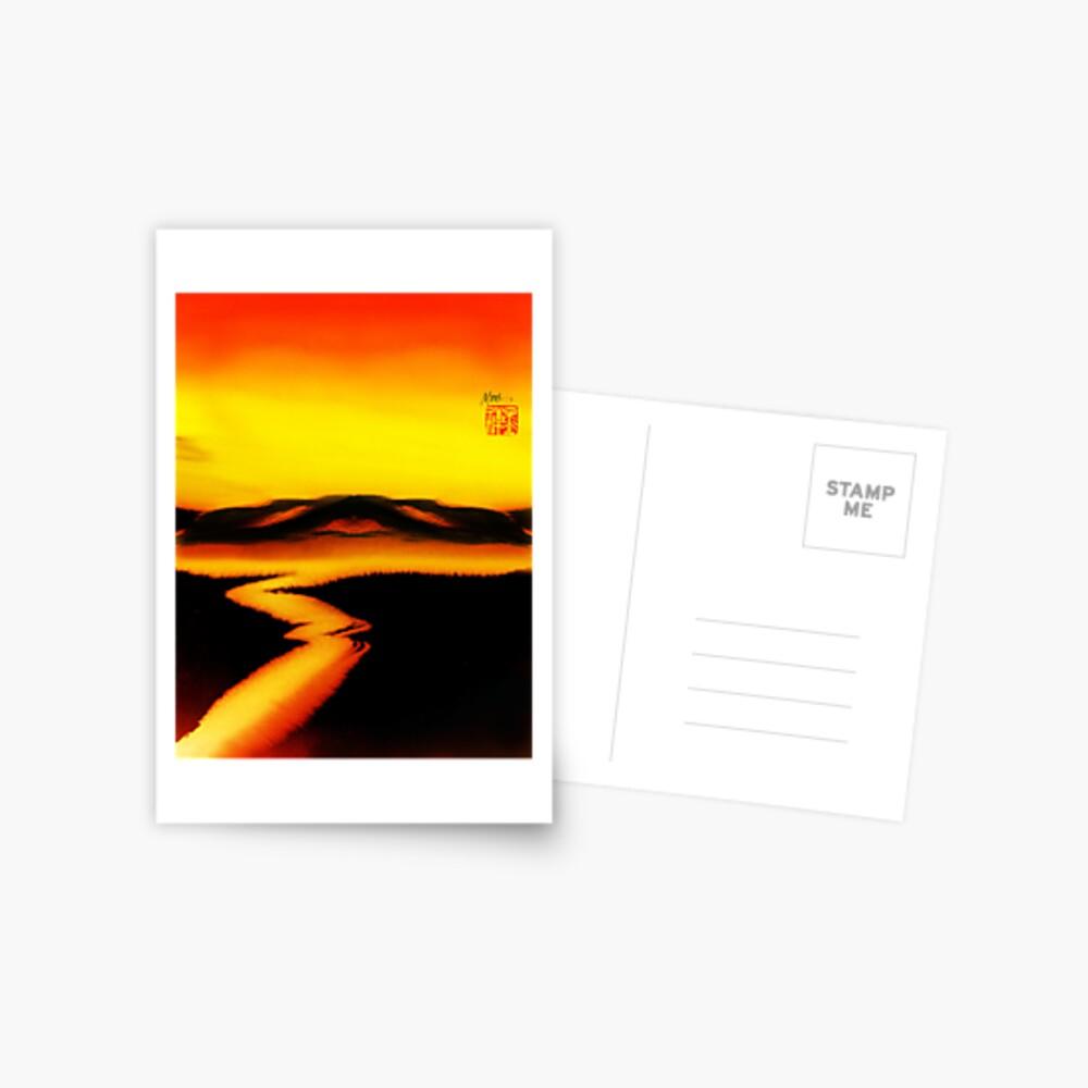 Deep Red Postcard