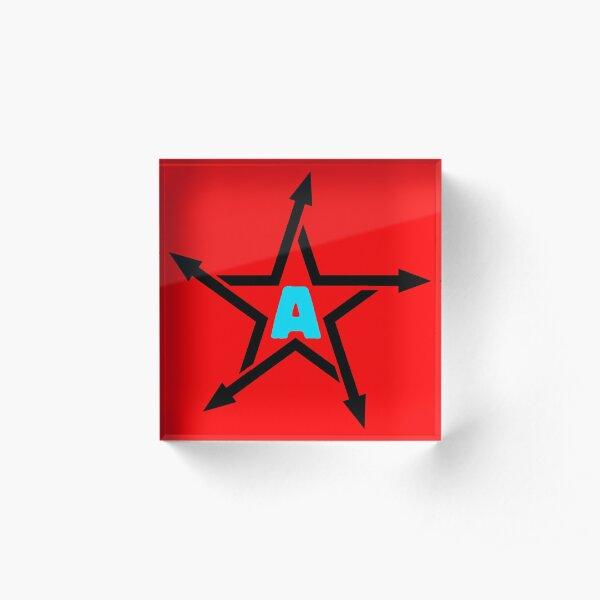 AEROBITARD Star Logo Acrylic Block
